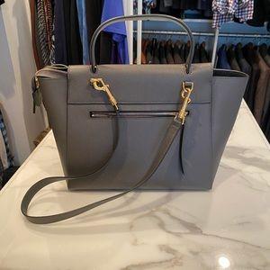 CELINE Grained Calfskin Micro Belt Bag Grey